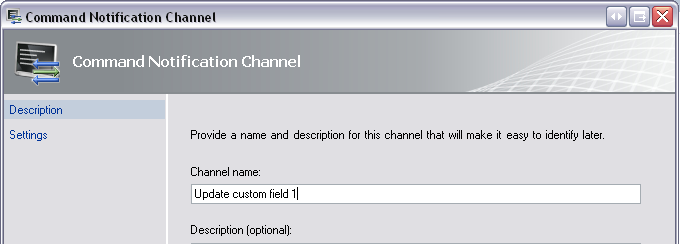 Command Notification Channel Wizard #1