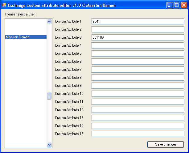 Exchange Custom Attribute editor with GUI, written in